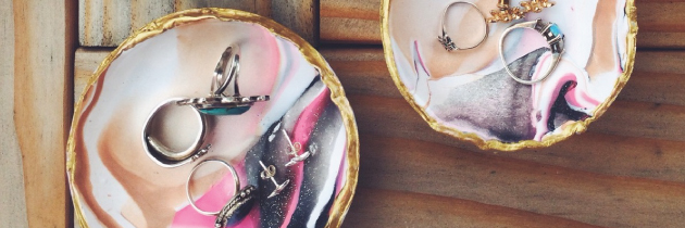 DIY Marbled Trinket Dish